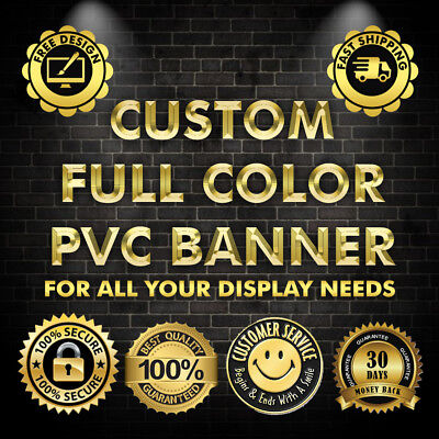 2'x20'Full Color DOUBLE SIDED banner 13Oz Vinyl. Free shipping + Free Design