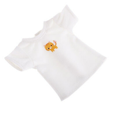 Cute Cotton Short Sleeve Pullover T-shirt for 12'' Blythe Doll Clothes White