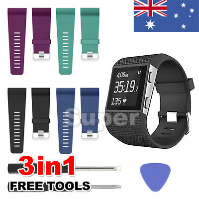 New Replacement Band for Fitbit Surge Tracker + Tool Buckle Silicone Wrist Strap