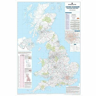 Map Marketing Postcode Areas - Mapa educativo de Iglaterra