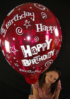 "5 x Qualatex 16"" HAPPY BIRTHDAY Luftballons in KRISTALLFARBEN *CRYSTAL TONES*"