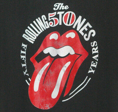 Lot Of 2 ROLLING STONES T Shirts TOUR Concert LIVE Zip Code 50 YEARS Lips Logo