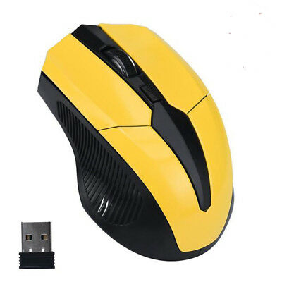 2.4GHz Mice Optical Mouse Cordless USB Receiver PC Computer Wireless for Laptop,
