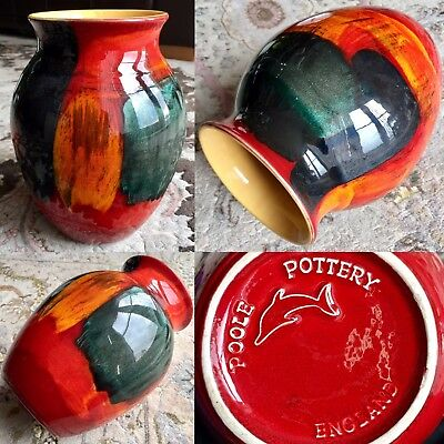 """Rare Collectable Anita Harris Poole Pottery 8""""/20cm Vase In Perfect Condition"""