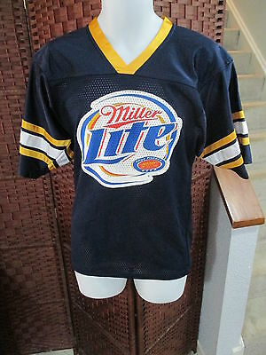 Miller Lite Beer Football Jersey Big Logo Size 34-36 Made in USA