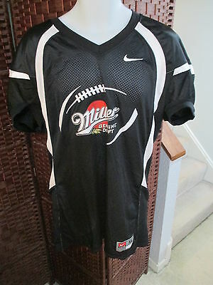 Rare Nike Miller Genuine Draft Football jersey Size XL WOW NFL BEER Shirt