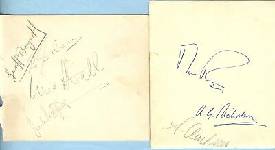 G.BOYCOTT, WES HALL, P.PHILPOTT etc1950's> ENGLAND etc HAND-SIGNED ALBUM PAGES