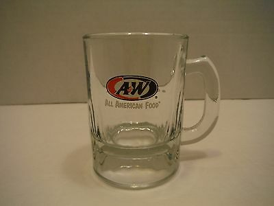 "A & W Root Beer Oval Logo ""all American Food"" 3-1/4"" Childs Mini Mug / Stein"