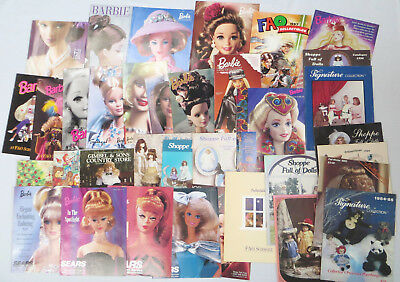 Lot 35 Barbie Doll Catalogs 1980s 1990s FAO Schwarz Penney Sears Spiegel TRU +++
