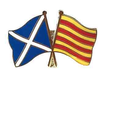 Scotland & Catalonia Enamel Friendship Lapel Pin Badge