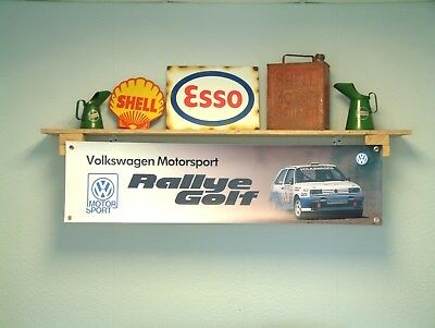 Volkswagen Motorsport Golf Rallye Banner workshop pvc sign VW Motor Sport