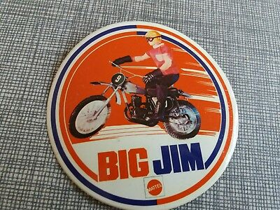 Autocollant sticker vintage années 70 BIG JIM Mattel MOTARD MOTO BICYCLE MOPED