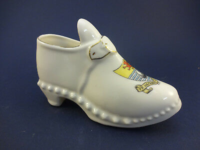 Gemma China Model of a Shoe with Rhyl (12.5cm Long)