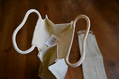 10 x Wine Bag: Natural Cotton with thick drawstring handle