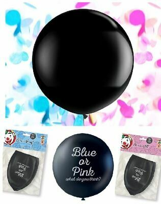"""36"""" Gender Reveal Balloon Baby Girl Boy Pink Blue Surprise Shower Party Confetti"""