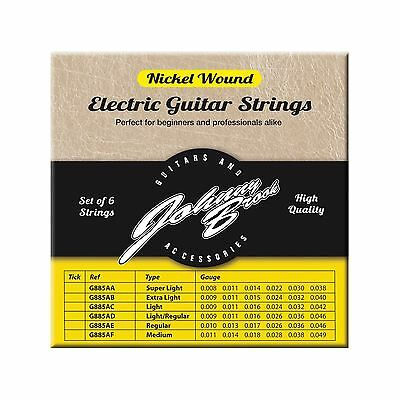 Johnny Brook Nickel Wound Electric Guitar Strings Set of 6