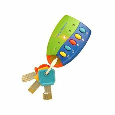 Baby Toy Flash Music Smart Remote Car Key Chunky Buttons Melodies Sounds Durable