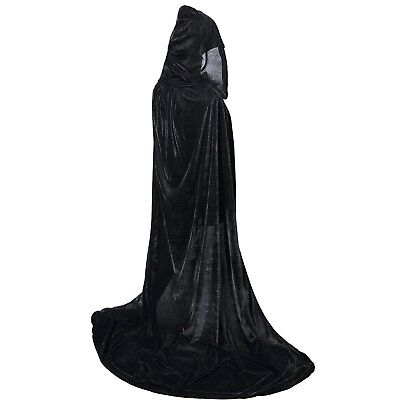 BIGXIAN Extra Long Hooded Velvet Cloak Halloween Christmas Fancy Cape Various