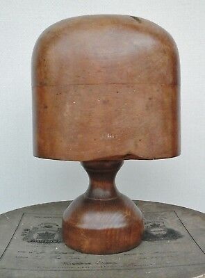 Original Vintage  Wooden Hat Block/Form & Stand, Millinery Display. Collectable