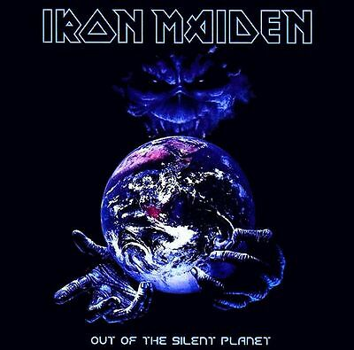 Iron Maiden Out Of The Silent Planet EP Vinyl LP Cover Sticker or Magnet