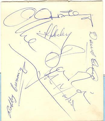 NEWCASTLE 1963/4 PLAYERS HAND-SIGNED ALBUM PAGE - MONCUR, HOCKEY, McKINNEY etc
