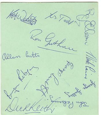 NEWCASTLE 1961/2 RESERVES HAND-SIGNED ALBUM PAGE - ELLISON, TODD, WEBSTER etc