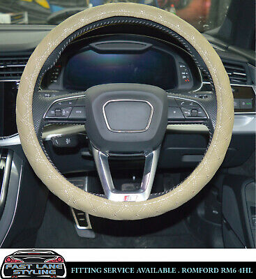 Universal Faux Leather Beige Steering Wheel Cover Bsl002-Bge  Vlv1