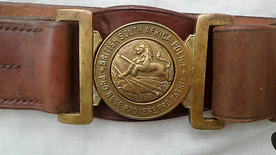 British South Africa Police waist belt with buckle