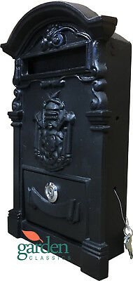 Cast Iron Heavy Weight Post Letter Box Lockable Backless For Building Into Walls