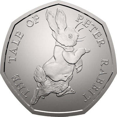 2017 50P Coin Tale Peter Rabbit Uncirculated Rare Fifty Pence Beatrix Potter £