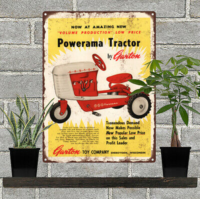 Case Tractor Farm Ad Advertising Baked Metal Repro Sign 9x12 60172