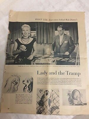 Lady and the Tramp News, Peggy Lee her Four Voices behind Walt Disneys Movies