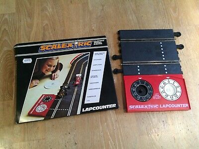 Vintage SCALEXTRIC LAPCOUNTER MECHANICAL BOXED