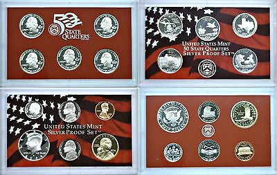 2004-S 10 Coin Silver Proof Set OGP W/COA