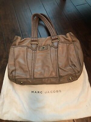 marc by marc jacobs diaper bag - leather - gray