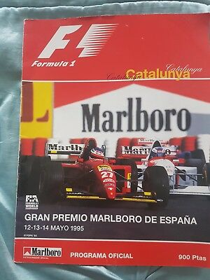 F1 Grand Prix Programme Spain 1995 Signed By 17 Drivers