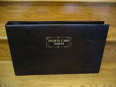 1980's HUGE 3 Ring Sports Card Album With 40 Sheets Of 18 Pocket Page Protectors