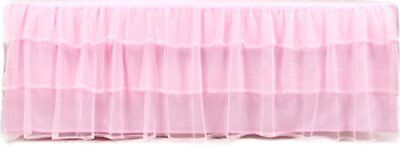 Tadpoles Triple Layer Tulle Crib Skirt in Pink