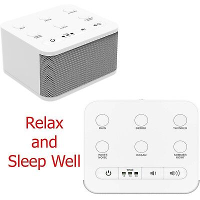 NEW Noise Sound Machine Sleep Well Therapy Relax Fall Asleep White Nature Sounds