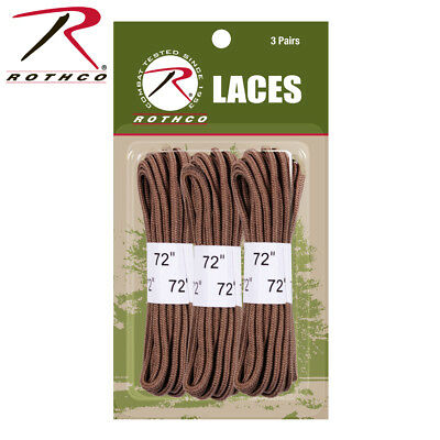 "US USMC Army Military COYOTE BROWN 72"" Tactical Combat Boot Shoe Laces 3-Pack"
