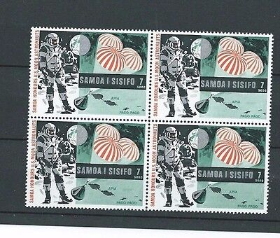 Interesting block of stamps from Samoa. 1969. SG 330