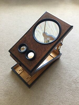 Vintage/antique wooden stereoscope/graphascope picture magnifier