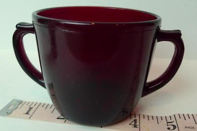 Ruby Red Double Handled Sugar Bowl