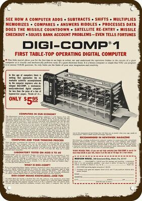 1968 DIGI-COMP 1 DIGITAL COMPUTER Vintage Look REPLICA METAL SIGN
