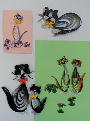 Cats for Cards & Wall Art Quilling Kit