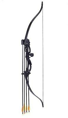 New Kids Junior Recurve Archery Bow and Arrow Set for 20 lb Black Starter Kit