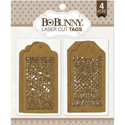 BoBunny Laser Cut Chipboard  Lace Tags BBC-15840