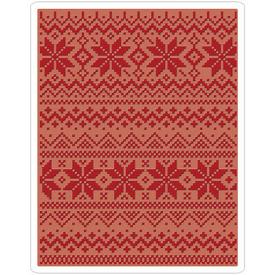 Sizzix Texture Fades A2 Embossing Folder Holiday Knit #2 By Tim Holtz 661366