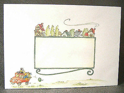 envelope Skunk riding truck & dancing Sweet Springs U. S. A. #153; signed Sawyer