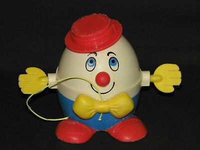 Fabulous Vintage 1967 Fisher Price Humpty Dumpty Pull Toy Great Condition